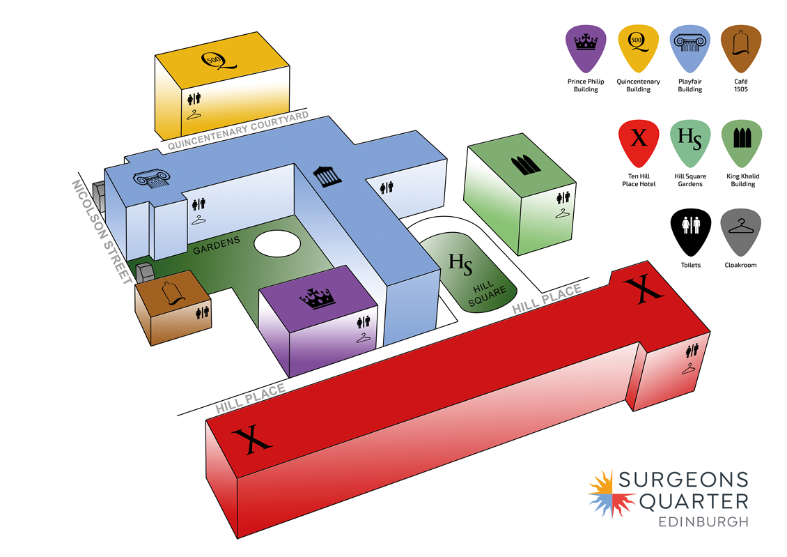 Venue Plan Surgeons Quarter Edinburgh