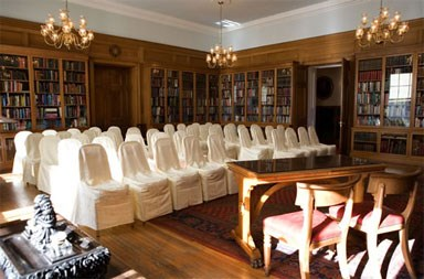 The Fellows' Library Wedding Set-Up