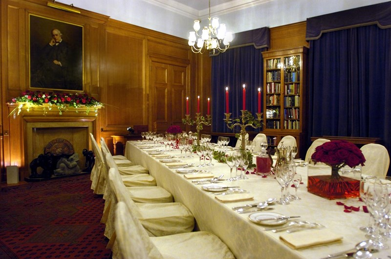 Fellows library dinner