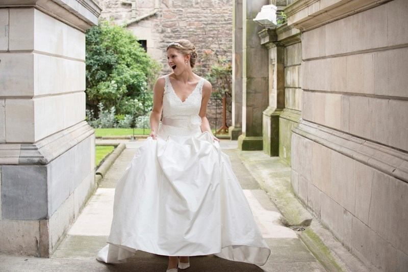 A very happy bride!