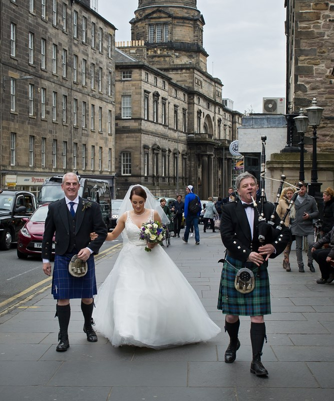 Arriving at the College via Nicolson Street