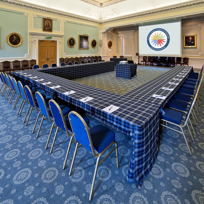 Boardroom Set-Up in the Playfair Hall
