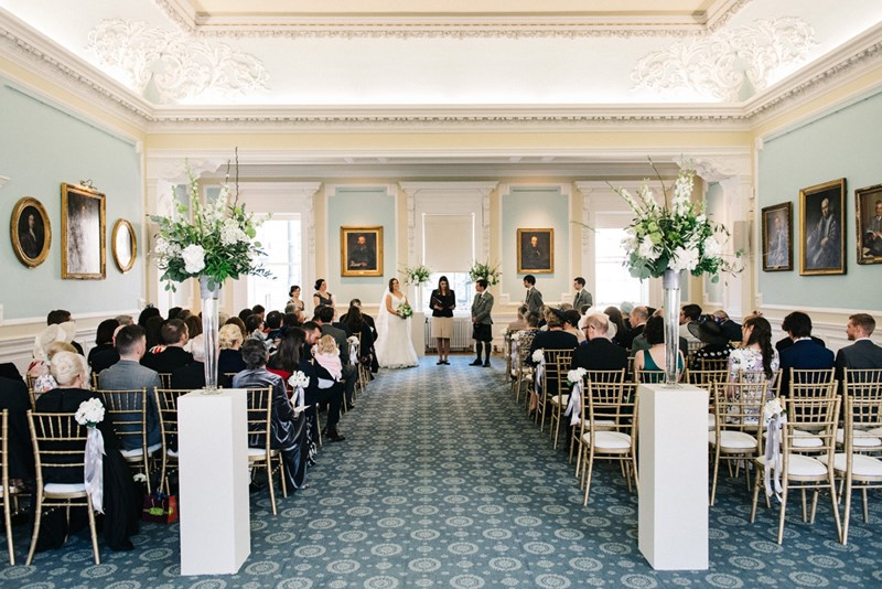 Wedding Ceremony in the Playfair Hall