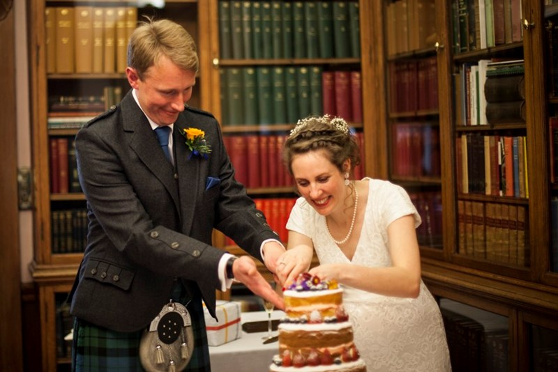 Wedding Cake in the Fellows' Library